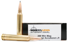 Modern Arms 300 Win Mag 210gr Accubond LR Match Ammo - 20 Rounds