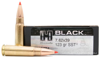Hornady BLACK 7 62x39 123gr Poly-Tip SST Ammo - 20 Rounds