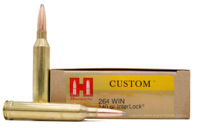 Hornady 264 Win Mag 140gr Interlock SP Ammo