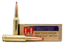 Hornady 6mm Creedmoor 108gr ELD Match Ammo