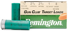 "Remington Gun Club 12ga 2.75"" 1oz #8 Shot Lead Ammo - 25 Rounds"