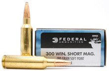 Federal Power Shok 300 Win Short Mag 180gr SP Ammo - 20 Rounds