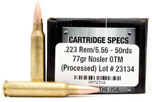Ventura Tactical 223/5.56NATO 77gr OTM Ammo - 50 Rounds
