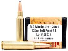 Ventura Heritage 284 Win 139gr BTSP Ammo - 20 Rounds