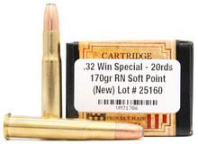 Ventura Heritage 32 Win Special 170gr SP New Ammo - 20 Rounds