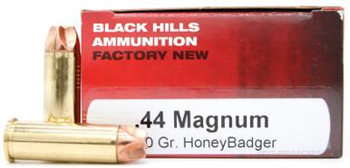 Black Hills 44 Magnum 160gr HoneyBadger Ammo - 50 Rounds