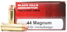 Black Hills 44 Magnum 160gr HoneyBadger Ammo - 50 Rounds