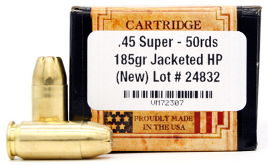Load-X 45 Super 185gr JHP Ammo - 50 Rounds