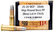 Ventura Heritage 25-20 WCF 90gr RNFP Ammo - 20 Rounds