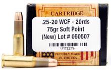 Ventura Heritage 25-20 WCF 75gr SP Ammo - 20 Rounds