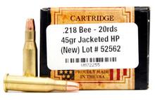 Ventura Heritage 218 Bee 45gr HP Ammo - 20 Rounds