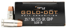 Speer God Dot LE 357 Sig 125gr GDHP Ammo - 50 Rounds