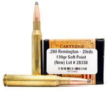 Ventura Heritage 280 Remington 139gr BTSP Ammo - 20 Rounds