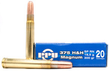 Prvi Partizan .375 H&H 300gr SPRN Ammo - 20 Rounds