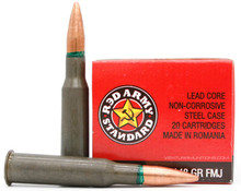 Red Army Standard 7.62x54r 148gr FMJ Ammo - 20 Rounds