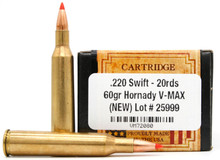 Ventura Heritage 220 Swift 60gr V-Max Ammo - 20 Rounds