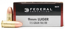 Federal Champion 9mm 115gr FMJ Ammo - 50 Rounds