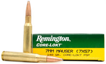 Remington Express 7x57 Mauser 140gr Core-Lokt PSP Ammo - 20 Rounds