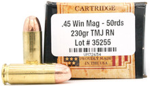 Ventura Heritage 45 Win Mag 230gr TMJ Ammo - 50 Rounds