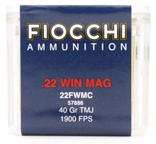 Fiocchi 22 Win Mag 40gr TMJ Ammo - 50 Rounds