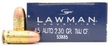 Speer Lawman 45 ACP 230gr TMJ BLEM Ammo - 50 Rounds