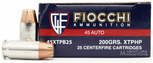 Fiocchi 45 ACP 200gr XTPHP Ammo - 25 Rounds