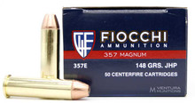 Fiocchi 357 Magnum 148gr JHP Ammo - 50 Rounds