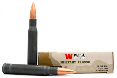 Wolf Military Classic 30-06 168gr FMJ Ammo - 20 Rounds