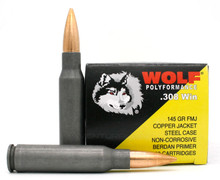 Wolf Polyformance 308 Win 150gr Copper FMJ (Non-Magnetic) Ammo - 20 Rounds