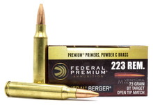 Federal Gold Medal 223 Rem 73gr Berger BTHP Ammo - 20 Rounds