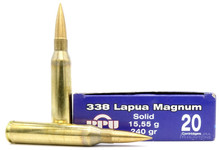 Prvi Partizan 338 Lapua Mag 240gr Solid Ammo - 20 Rounds