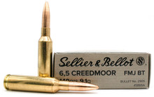 Sellier & Bellot 6.5 Creedmoor 140gr FMJ Ammo - 20 Rounds