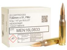 MEN 7.62x51 NATO 147gr FMJ Ammo - 20 Rounds