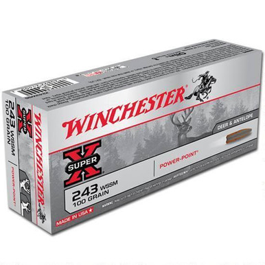 Winchester Super-X 243 WSSM 100gr Power-Point SP Ammo - 20 Rounds