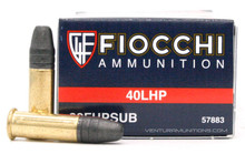 Fiocchi .22 LR Subsonic 40gr LHP Ammo - 500 Rounds