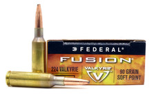 Federal Fusion 224 Valkyrie 90gr SP Ammo - 20 Rounds