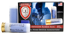 "Lightfield Home Defender 12ga 2.75"" 130gr Rubber Slug Ammo - 5 Rounds"