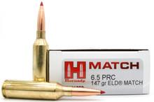 Hornady 6.5 PRC 147gr ELD Match Ammo - 20 Rounds