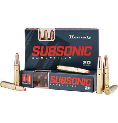 Hornady Subsonic 300 AAC Blackout 190gr Sub-X Ammo - 20 Rounds