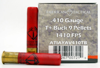 "American Tactical 410ga 2.5"" Lead T Buck 9 Pellet Ammo - 25 Rounds"