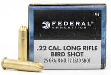 Federal Game-Shok 22LR 25gr #12 Lead Shot Ammo - 50 Rounds