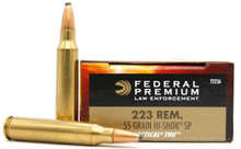 Federal LE 223 Rem 55gr Hi-Shok Soft Point Ammo - 20 Rounds