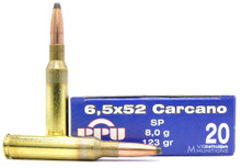 Prvi Partizan 6.5x52mm Carcano 123gr SP Ammo - 20 Rounds