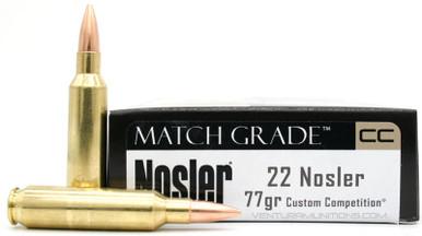 Nosler Match Grade 22 Nosler 77gr BTHP Ammo - 20 Rounds