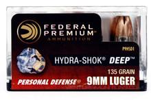 Federal Hydra-Shok DEEP 9mm 135gr HP Ammo - 20 Rounds