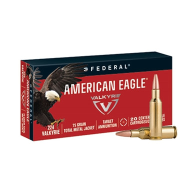 Federal American Eagle 224 Valkyrie 75gr TMJ Ammo - 20 Rounds