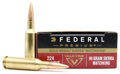 Federal Gold Medal 224 Valkyrie 90gr SMK Ammo - 20 Rounds