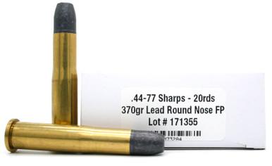 Ventura Heritage 44-77 Sharps 370gr RNFP Ammo - 20 Rounds