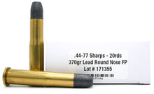 Ventura Heritage 44-77 Sharps 370gr RNFP Ammo - 20 Rounds