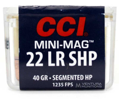 CCI Mini-Mag 22LR 40gr Segmented HP Ammo - 100 Rounds